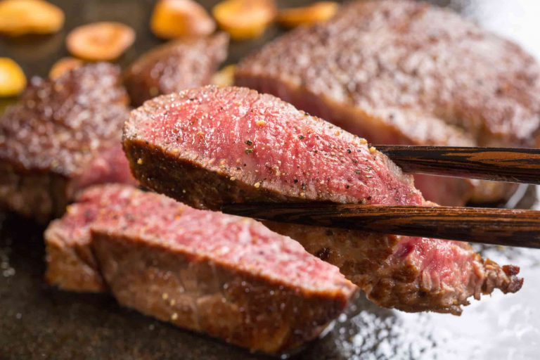 grilling Wagyu beef